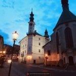 Banska Stiavnica at night