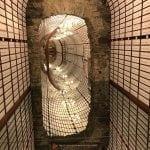 Inside the tunnel of love at the Love Bank, Banska Stiavnica