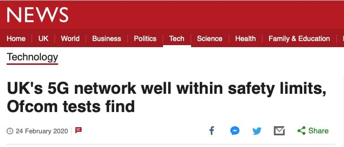 bbc article 5g is safe