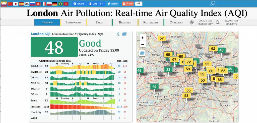 air quality tool aqicn
