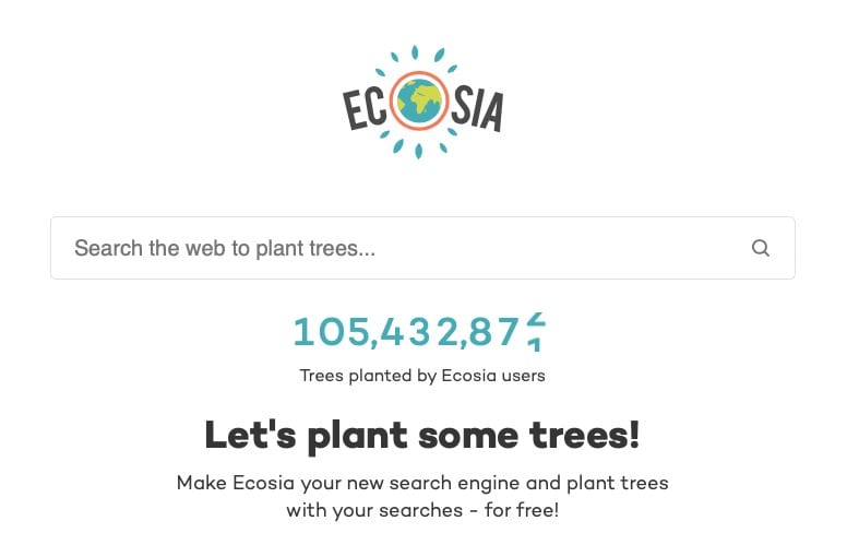 how can I help stop climate change - change to ecosia