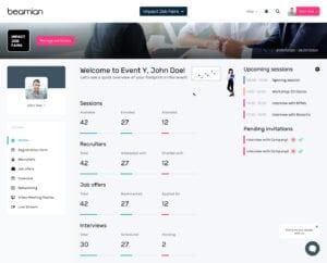 online platform to manage fairs - career fair