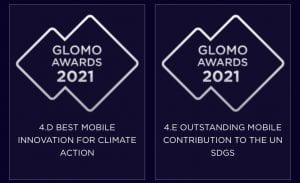 mobile world congress MWC 2021 awards glomo tech4good tech for good UN SDGS and Climate change