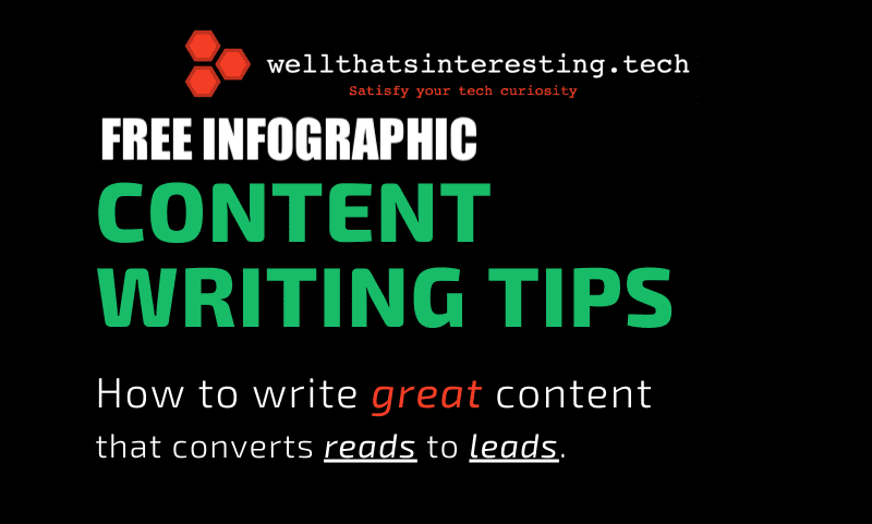 How to write website content that converts - copywriting tips - infographic - www.wellthatsinteresting.tech promo image