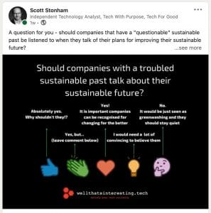 the importance of sustinability in business - should we trust big companies
