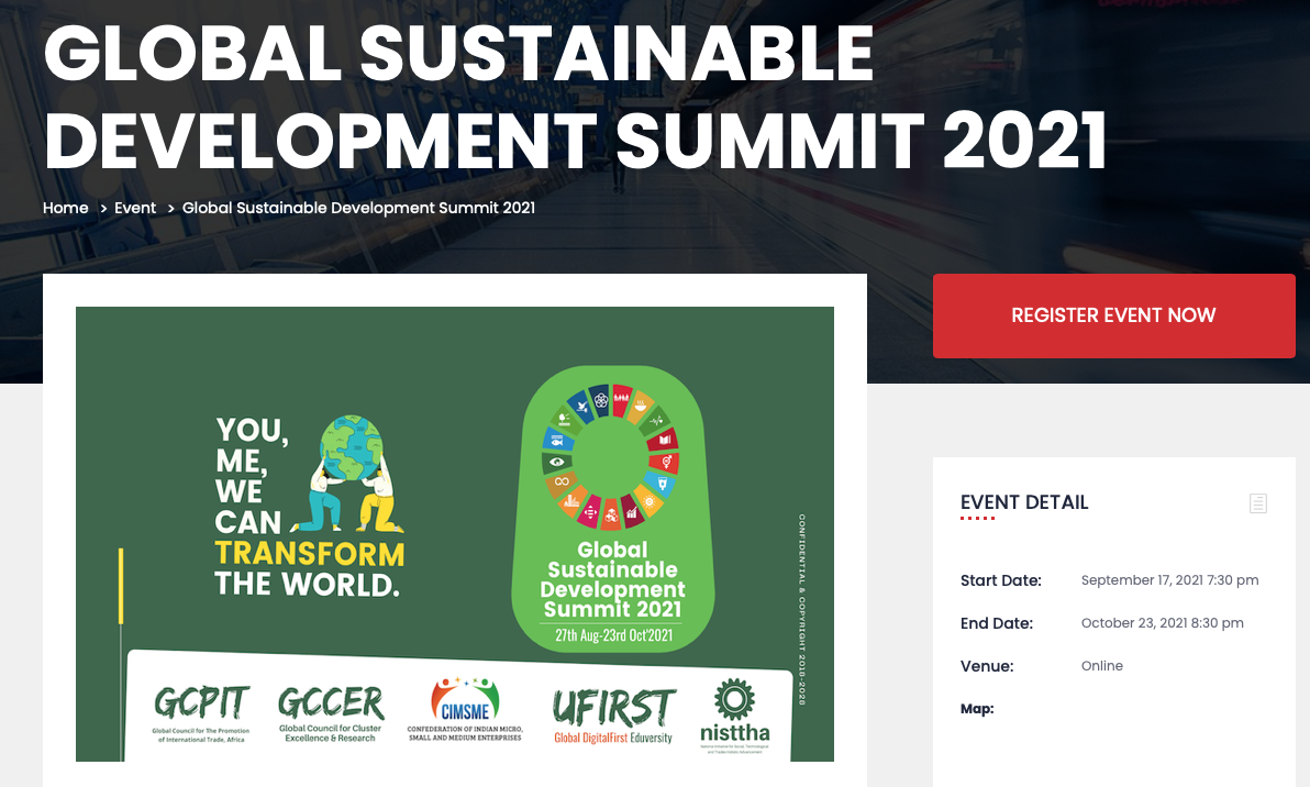 Scott speaks at a global SDG conference about SDG9